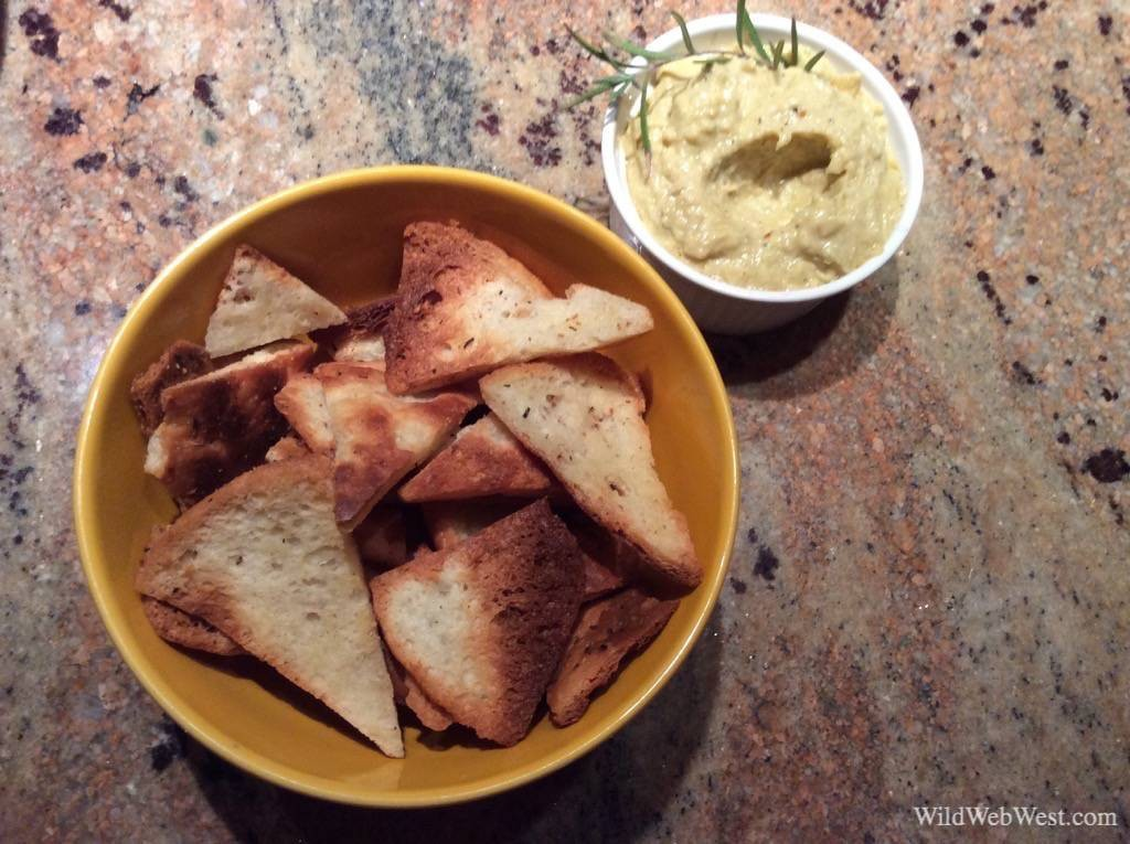Recipe for Gluten Free Vegan Pita Chips