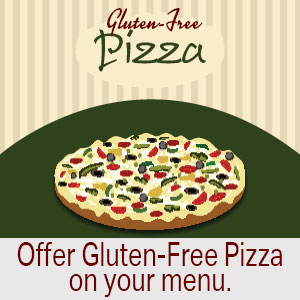 Offer a substitution for your pizza with a gluten-free option